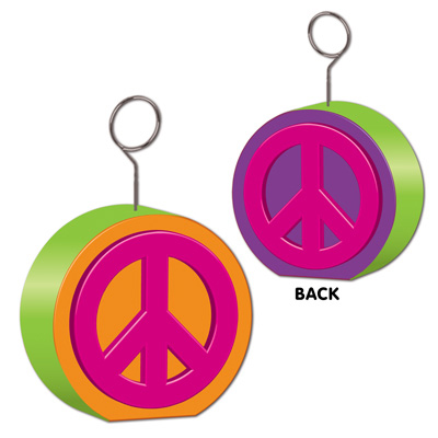 Click for larger picture of PEACE SIGN PHOTO HOLDER PARTY SUPPLIES