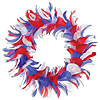 FEATHER WREATH RED/WHITE/BLUE (6/CS) PARTY SUPPLIES