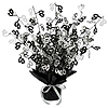 40TH GLEAM 'N BURST CENTERPIECE - BLACK PARTY SUPPLIES
