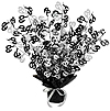 60TH GLEAM 'N BURST CENTERPIECE - BLACK PARTY SUPPLIES