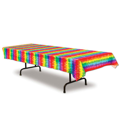 Click for larger picture of TIE-DYED TABLECOVER (12/CS) PARTY SUPPLIES