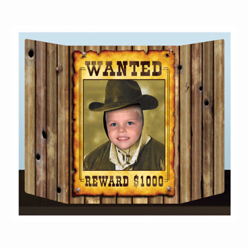 Click for larger picture of WANTED POSTER PHOTO PROP PARTY SUPPLIES