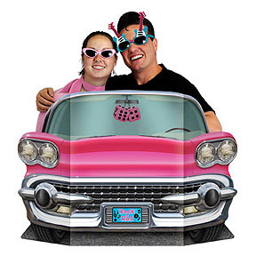 Click for larger picture of PINK CONVERTIBLE PHOTO PROP PARTY SUPPLIES