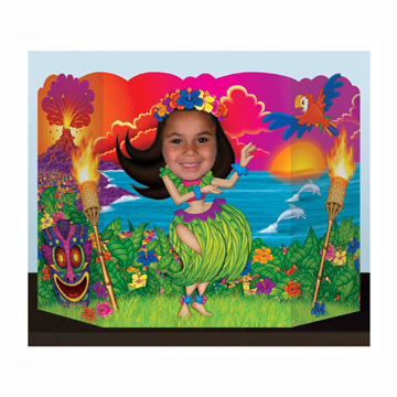 Click for larger picture of HULA GIRL PHOTO PROP PARTY SUPPLIES