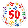 50 DINNER PLATES (96/CS) PARTY SUPPLIES