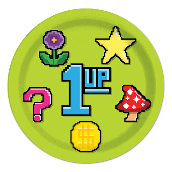 8-BIT DINNER PLATES PARTY SUPPLIES
