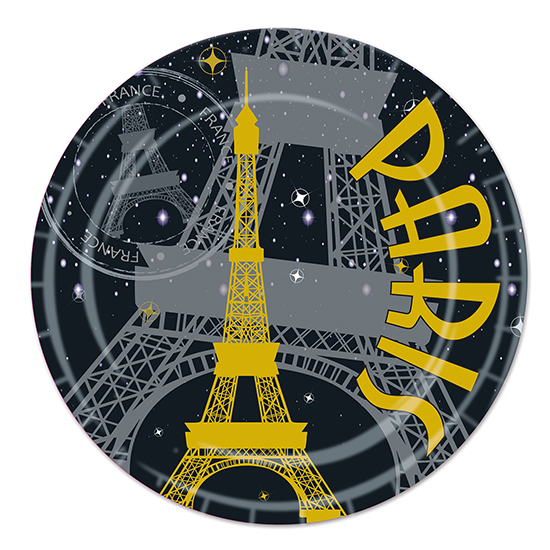 Click for larger picture of PARIS DESSERT PLATES PARTY SUPPLIES