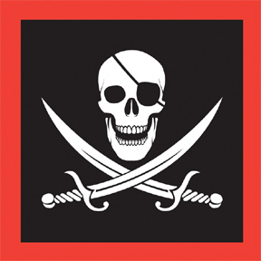 Click for larger picture of PIRATE LUNCHEON NAPKINS (192/CS) PARTY SUPPLIES