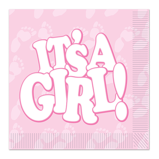 IT'S A GIRL! LUNCHEON NAPKIN (192/CS) PARTY SUPPLIES