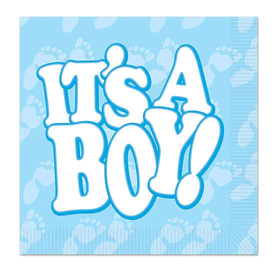 IT'S A BOY! LUNCHEON NAPKIN (192/CS) PARTY SUPPLIES