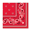 BANDANA BEVERAGE NAPKINS (192/CS) PARTY SUPPLIES