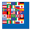 INTERNATIONAL FLAG BEV NAPKIN PARTY SUPPLIES