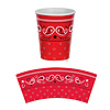 BANDANA HOT/COLD CUPS (96/CS) PARTY SUPPLIES