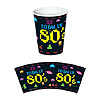 80'S BEVERAGE CUPS PARTY SUPPLIES