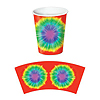 TIE-DYED BEVERAGE CUPS (96/CS) PARTY SUPPLIES