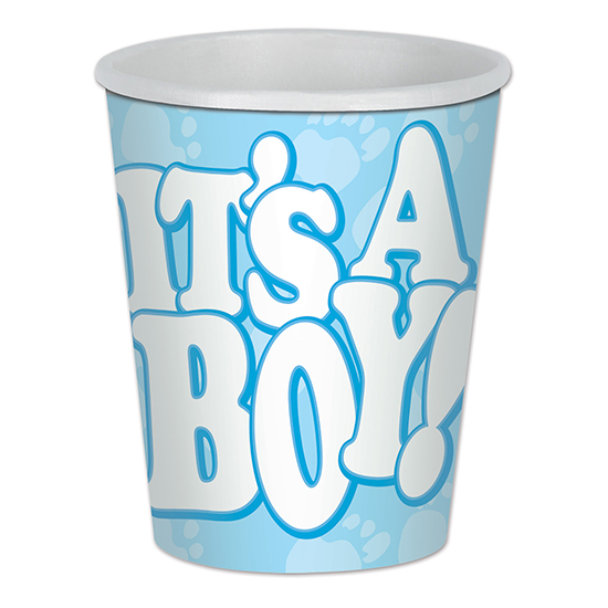 IT'S A BOY! BEVERAGE CUP (96/CS) PARTY SUPPLIES