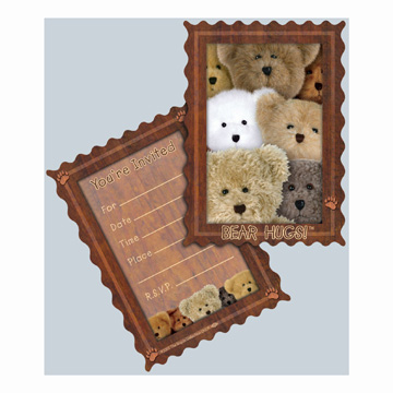 Click for larger picture of DISCONTINUED BOYD'S BEAR HUGS PTY INVIT PARTY SUPPLIES