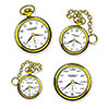 CLOCK CUTOUTS (48/CS) PARTY SUPPLIES