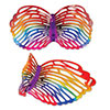 RAINBOW BUTTERFLY GLASSES (6/CS) PARTY SUPPLIES