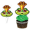 FROG CUPCAKE KIT (120/CS) PARTY SUPPLIES