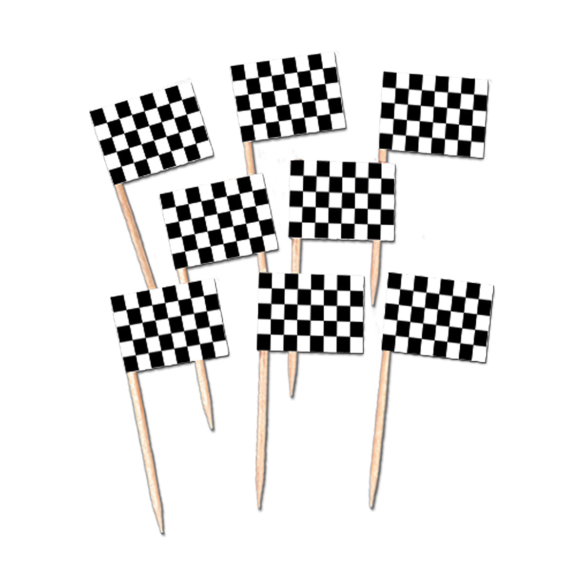 Click For Larger Picture Of Racing Flag Picks Party Supplies