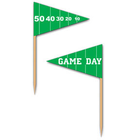 Click for larger picture of GAME DAY FOOTBALL PICKS PARTY SUPPLIES