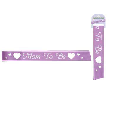 Click for larger picture of MOM TO BE SASH PARTY SUPPLIES