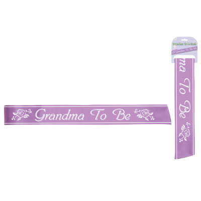 Click for larger picture of GRANDMA TO BE SASH PARTY SUPPLIES