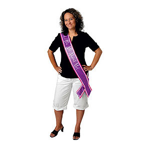 Click for larger picture of IT'S ALL ABOUT ME SATIN SASH (6/CS) PARTY SUPPLIES