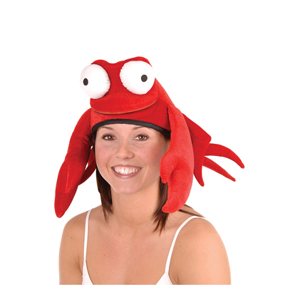 Click for larger picture of PLUSH CRAB HAT PARTY SUPPLIES