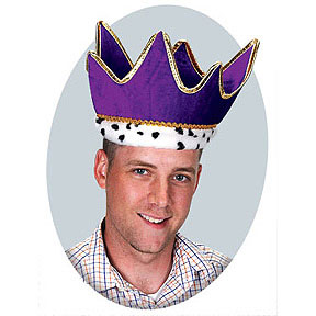 Click for larger picture of PLUSH ROYAL CROWN PURPLE (6/CS) PARTY SUPPLIES