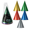 FOIL CONE HATS ASSORTED (96/CS) PARTY SUPPLIES