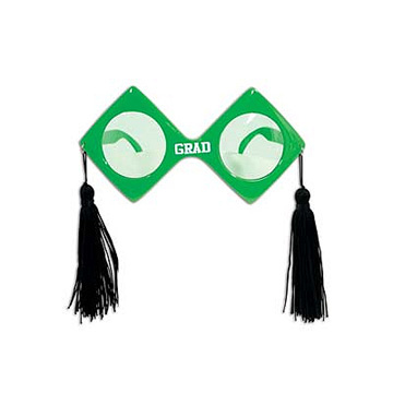 Click for larger picture of GRAD FANCI-FRAMES GREEN PARTY SUPPLIES