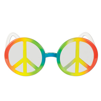 Click for larger picture of PEACE SIGN FANCI-FRAMES (6/CASE) PARTY SUPPLIES