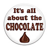 IT'S ALL ABOUT CHOCOLATE BUTTON (12/CS) PARTY SUPPLIES