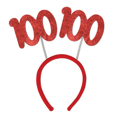 Click for larger picture of 100TH GLITTERED BOPPERS PARTY SUPPLIES