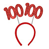 100TH GLITTERED BOPPERS PARTY SUPPLIES