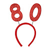 80TH GLITTERED BOPPERS PARTY SUPPLIES