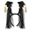 GRAD CAP W/FRINGE BOPPERS BLACK PARTY SUPPLIES