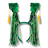 GRAD CAP W/FRINGE BOPPERS GREEN PARTY SUPPLIES