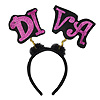 GLITTERED DIVA BOPPERS W/MARABOU PARTY SUPPLIES