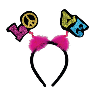 Click for larger picture of GLITTERED LOVE BOPPERS W/MARABOU PARTY SUPPLIES