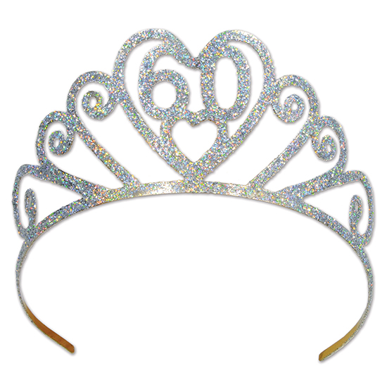 GLITTERED METAL 60 TIARA PARTY SUPPLIES