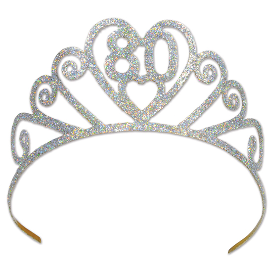 GLITTERED METAL 80 TIARA PARTY SUPPLIES