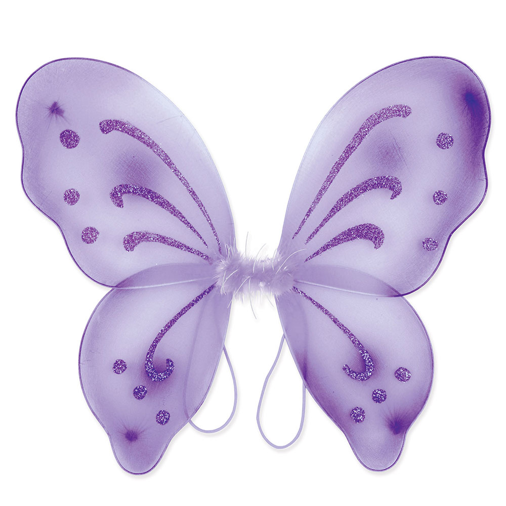 Click for larger picture of NYLON FAIRY WINGS PURPLE (12/CS) PARTY SUPPLIES