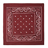 BURGUNDY BANDANA (12/CASE) PARTY SUPPLIES