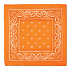 ORANGE BANDANA (12/CASE) PARTY SUPPLIES