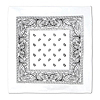 WHITE BANDANA (12/CASE) PARTY SUPPLIES