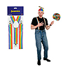 RAINBOW SUSPENDERS (12/CS) PARTY SUPPLIES