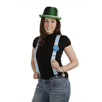 Click for larger picture of OKTOBERFEST SUSPENDERS (12/CS) PARTY SUPPLIES